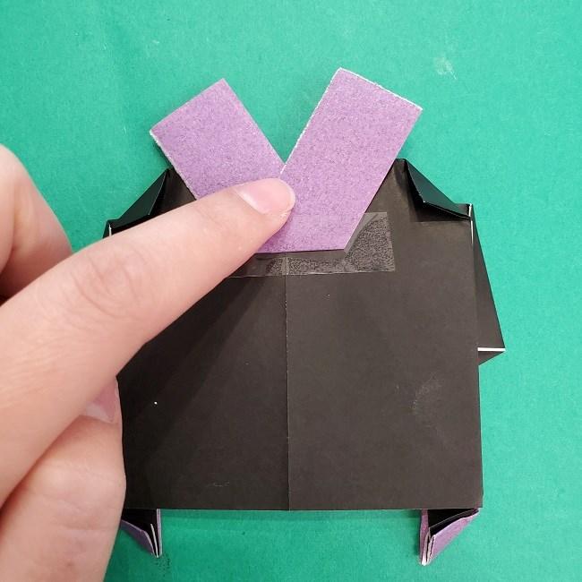 胡蝶しのぶの髪飾りの作り方(折り紙は紫色) (13)
