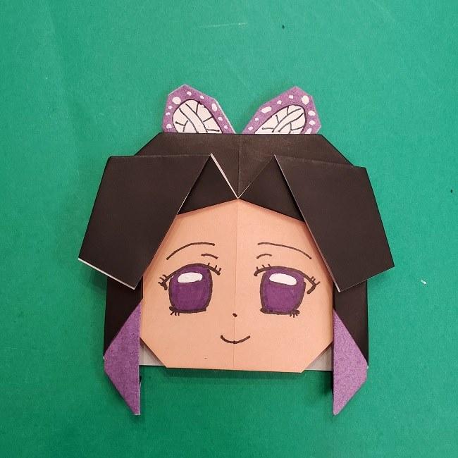 胡蝶しのぶの髪飾りの作り方(折り紙は紫色) (16)