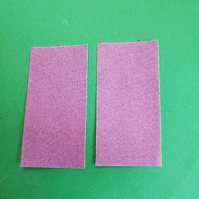 胡蝶しのぶの髪飾りの作り方(折り紙は紫色) (3)