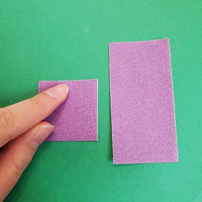 胡蝶しのぶの髪飾りの作り方(折り紙は紫色) (4)