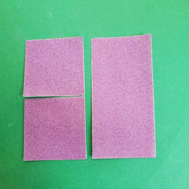 胡蝶しのぶの髪飾りの作り方(折り紙は紫色) (5)
