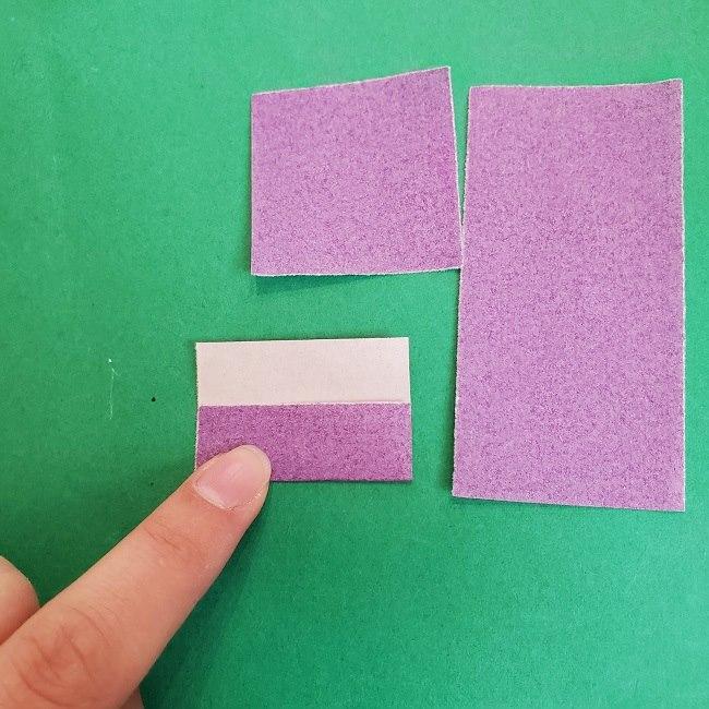 胡蝶しのぶの髪飾りの作り方(折り紙は紫色) (6)
