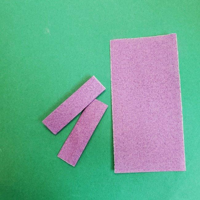 胡蝶しのぶの髪飾りの作り方(折り紙は紫色) (8)
