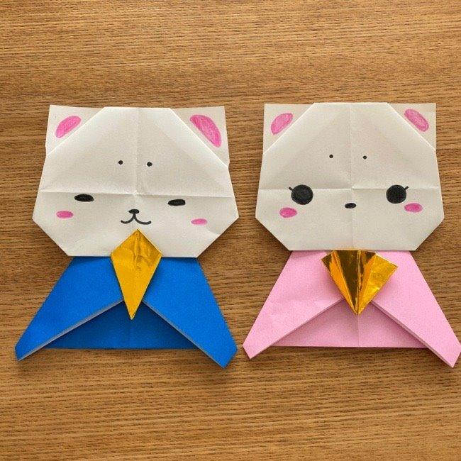 雛人形の折り紙【かわいい猫のひな祭り】の作り方★保育園・幼稚園の幼児も簡単に作れる♪