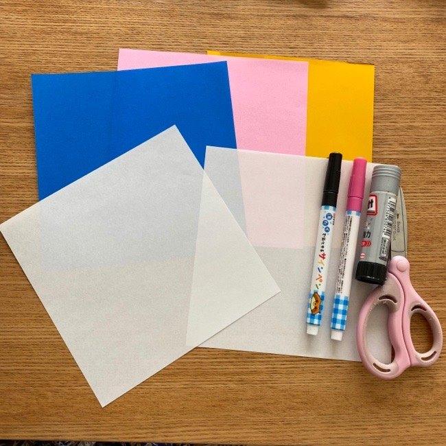 雛人形の折り紙【かわいい猫のひな祭り】:用意する物