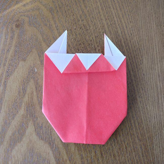 鬼の折り紙 3歳児からOK♪な作り方 (10)