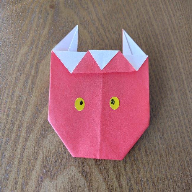 鬼の折り紙 3歳児からOK♪な作り方 (11)