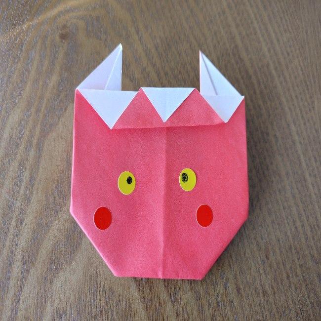 鬼の折り紙 3歳児からOK♪な作り方 (12)