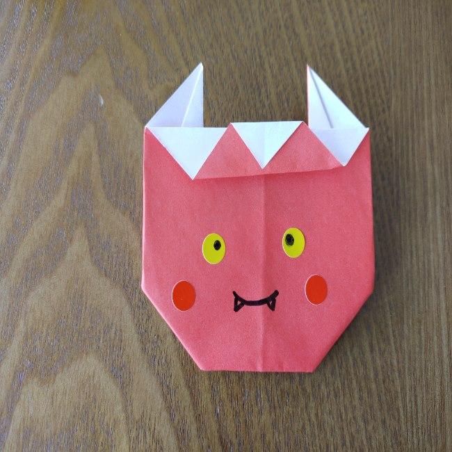 鬼の折り紙 3歳児からOK♪な作り方 (13)