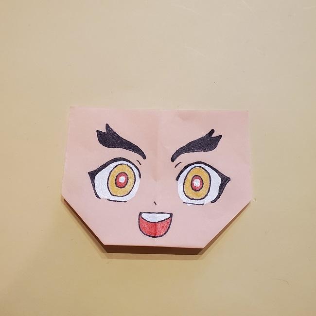 鬼滅の刃★折り紙の折り方 煉獄さん (35)