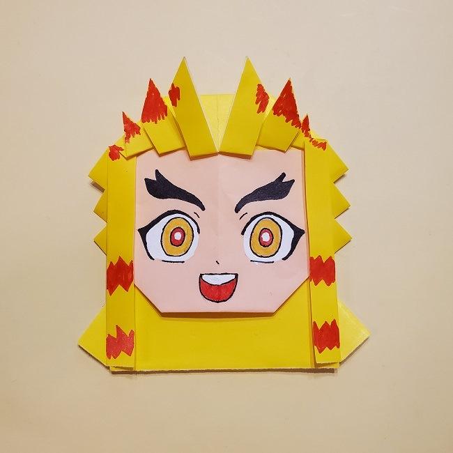 鬼滅の刃★折り紙の折り方 煉獄さん (37)
