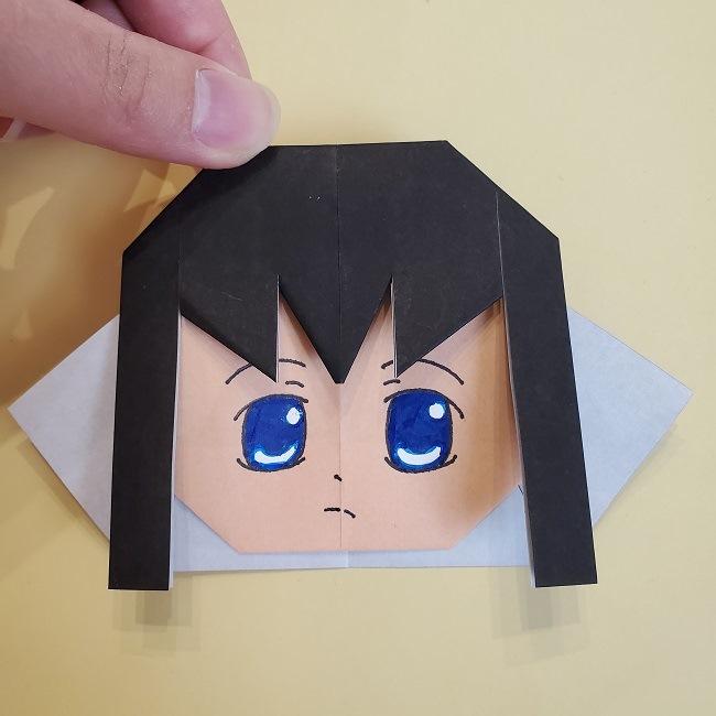鬼滅の刃(きめつのやいば)の折り紙 無一郎の折り方・作り方 (24)