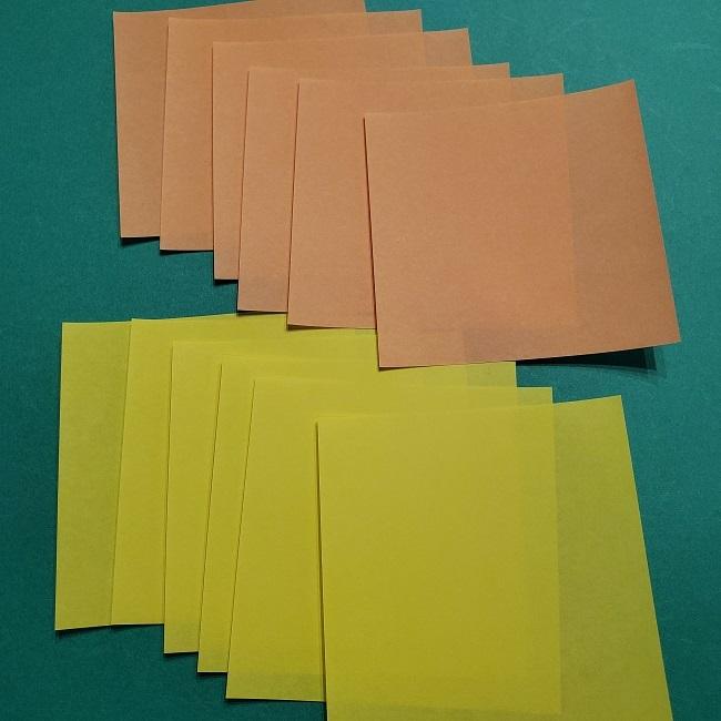 松竹梅の折り紙リースの折り方【用意するもの】