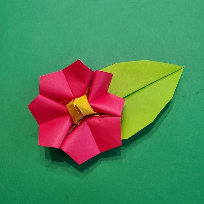 1月の折り紙|お正月にかわいい椿を立体的に作ろう