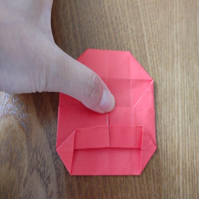 1月の折り紙 簡単!だるまの折り方・作り方 (12)