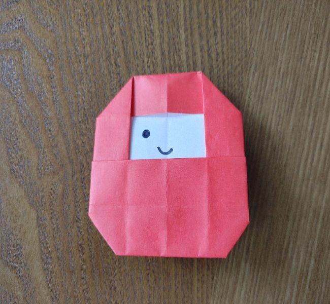 1月の折り紙 簡単!だるまの折り方・作り方 (13)