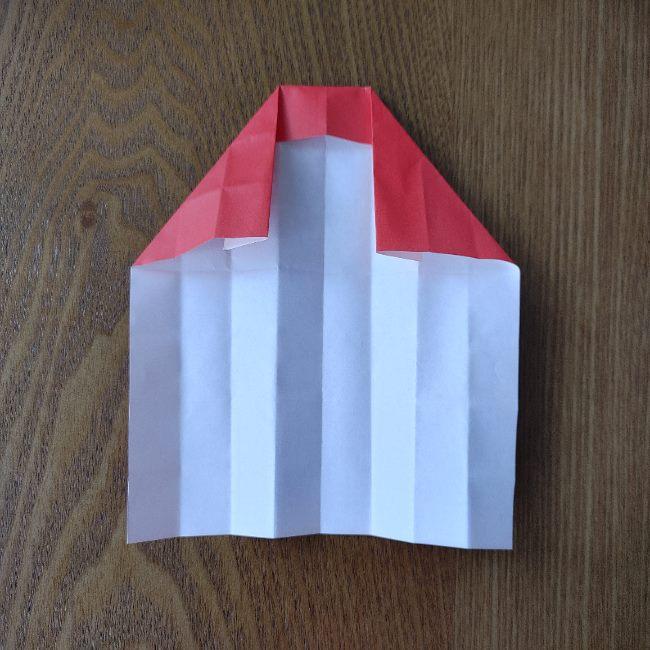 1月の折り紙 簡単!だるまの折り方・作り方 (8)