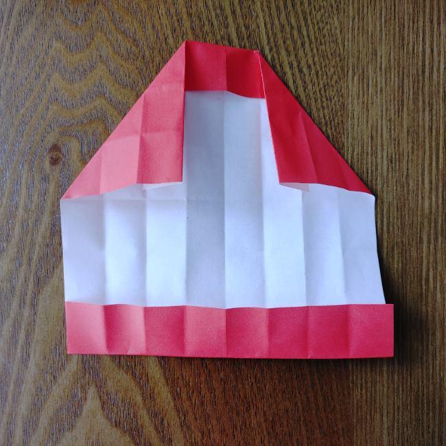 1月の折り紙 簡単!だるまの折り方・作り方 (9)