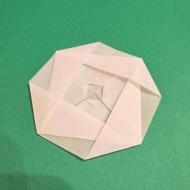 1月の花ツバキの折り紙(平面)の折り方まとめ