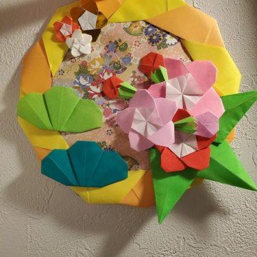 1月の装飾|折り紙でつくるお正月飾り【松竹梅のリース】の作り方・折り方★