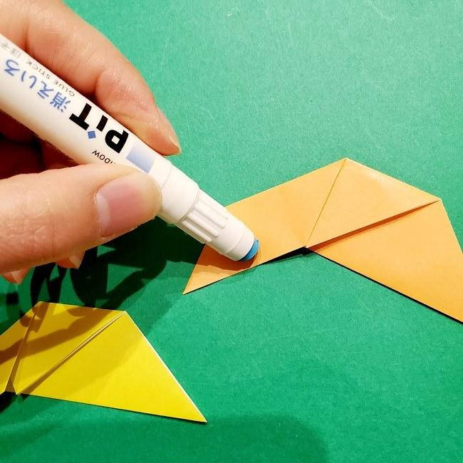 12枚の折り紙でつくる【松竹梅の折り紙リース】折り方・作り方 (8)