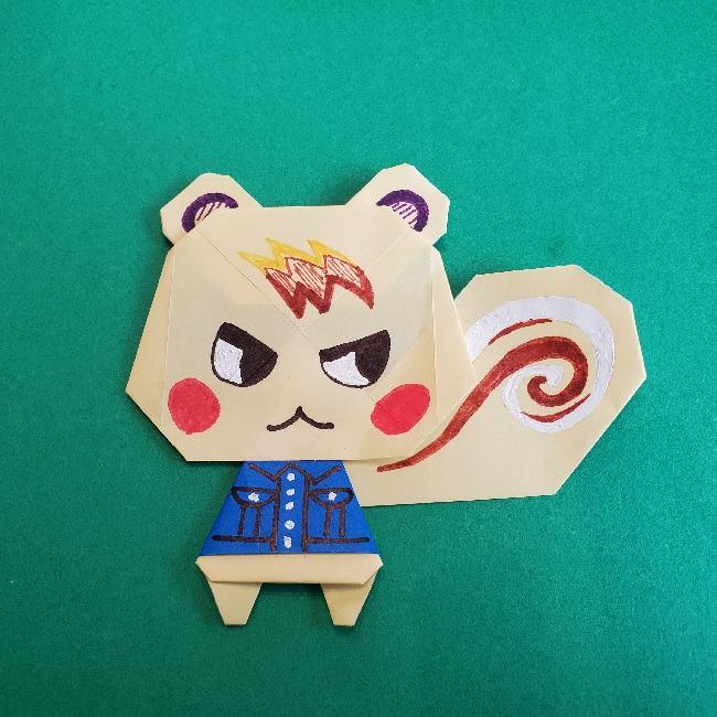 あつまれどうぶつの森の折り紙 簡単ジュンの折り方★かわいいあつ森のリスのキャラクター