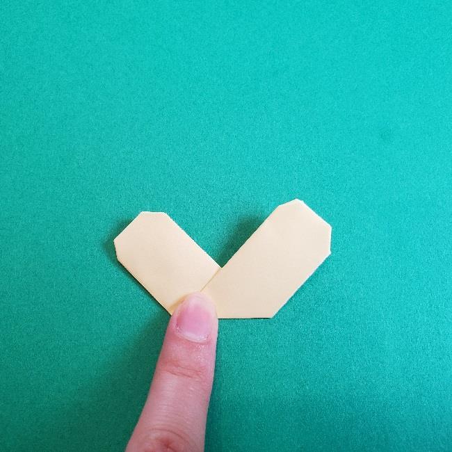 あつまれどうぶつの森の折り紙 簡単ジュンの折り方作り方 (16)
