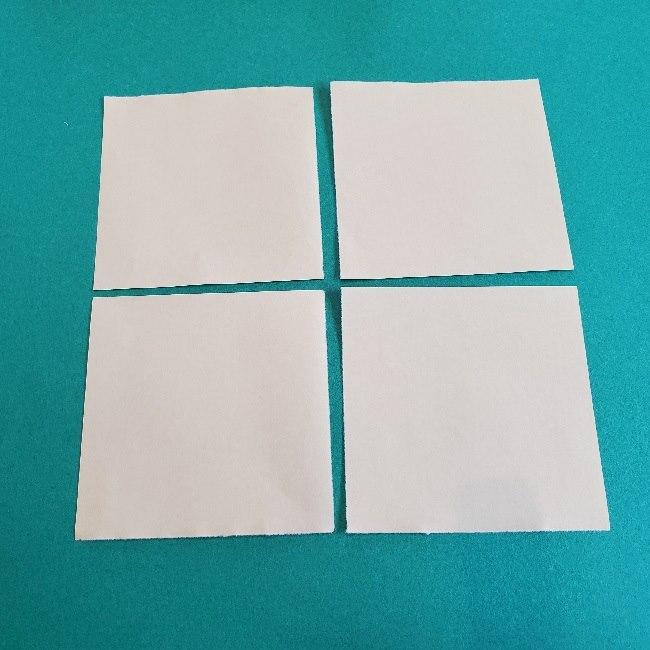 あつまれどうぶつの森の折り紙 簡単ジュンの折り方作り方 (2)