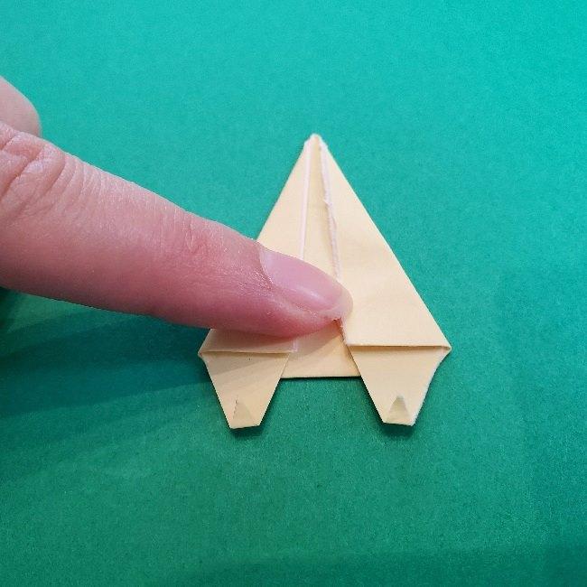 あつまれどうぶつの森の折り紙 簡単ジュンの折り方作り方 (23)