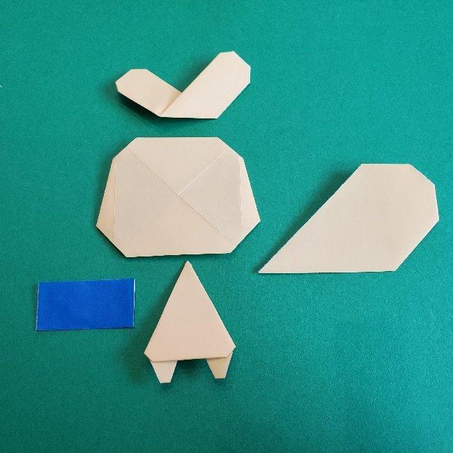 あつまれどうぶつの森の折り紙 簡単ジュンの折り方作り方 (31)