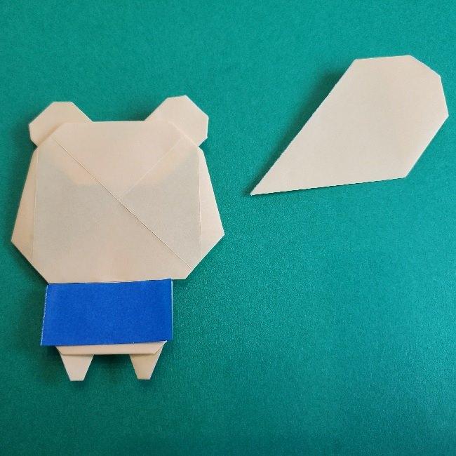 あつまれどうぶつの森の折り紙 簡単ジュンの折り方作り方 (33)