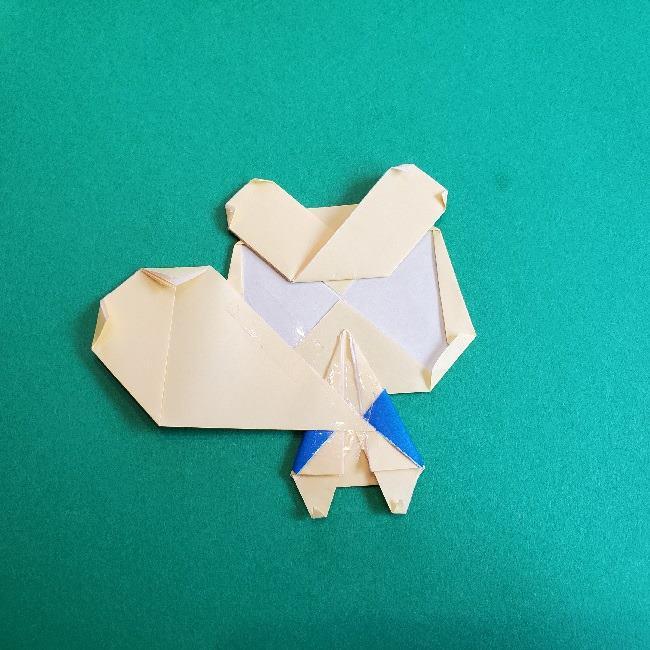 あつまれどうぶつの森の折り紙 簡単ジュンの折り方作り方 (35)