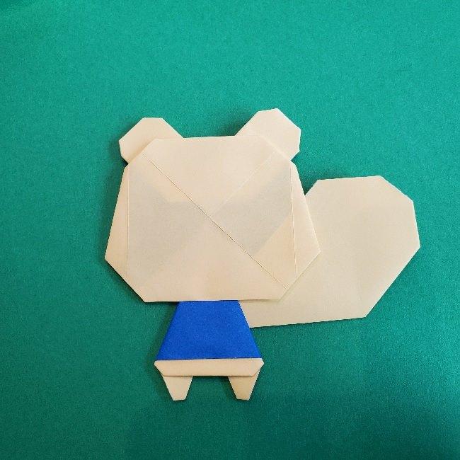あつまれどうぶつの森の折り紙 簡単ジュンの折り方作り方 (36)