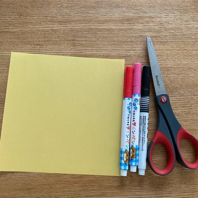 あつ森『ちゃちゃまる』の折り紙《用意する物》