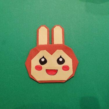 あつ森の折り紙『リリアン』の折り方作り方★かわいいウサギのキャラクターを手作り♪