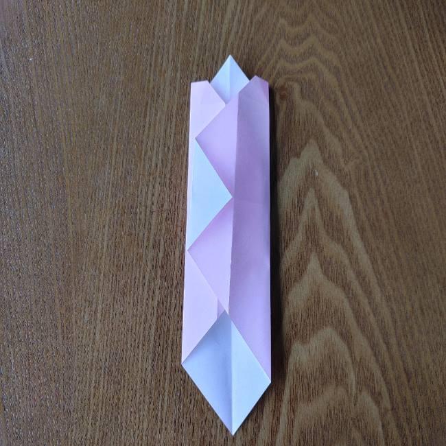 お雛様の箸袋の折り紙★折り方 作り方 (10)