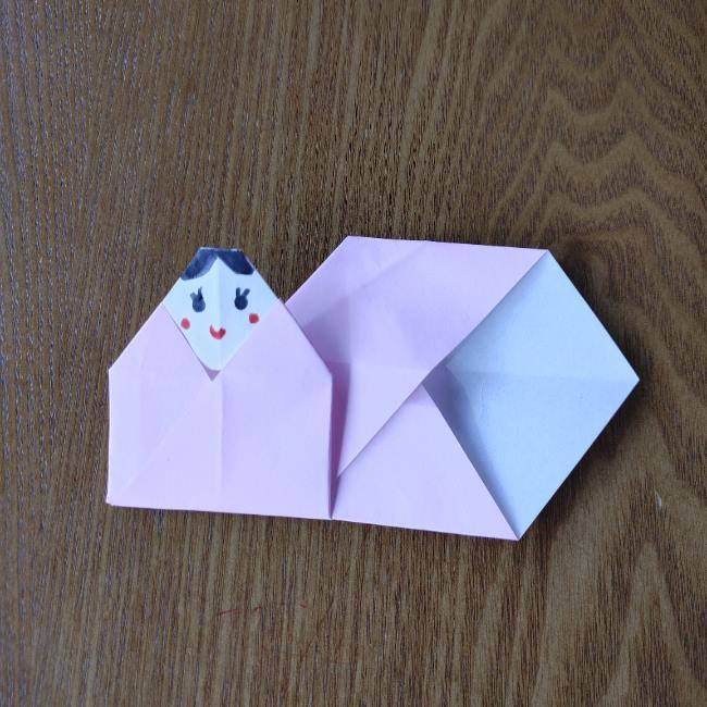 お雛様の箸袋の折り紙★折り方 作り方 (16)