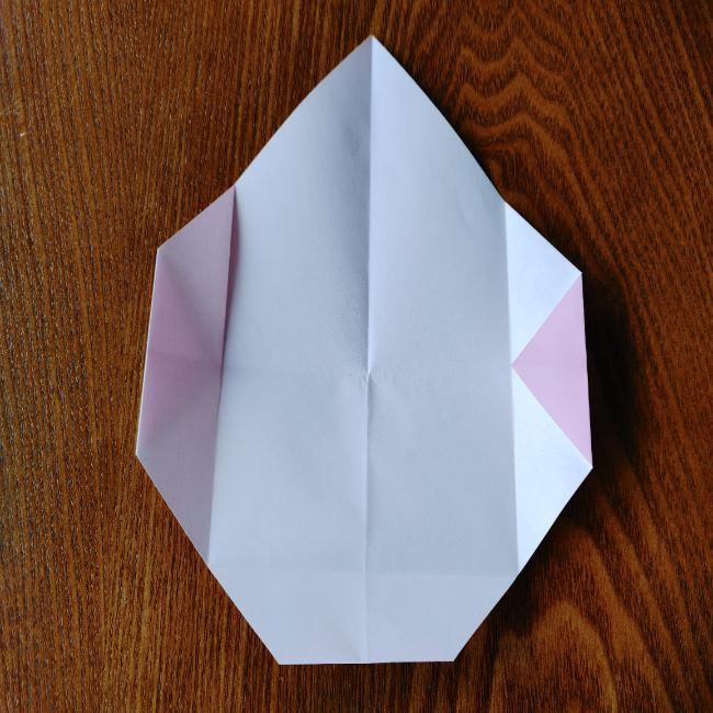 お雛様の箸袋の折り紙★折り方 作り方 (7)