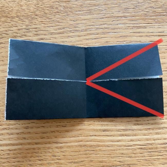 きめつのやいばの折り紙『かすがいがらす』折り方作り方 (19)