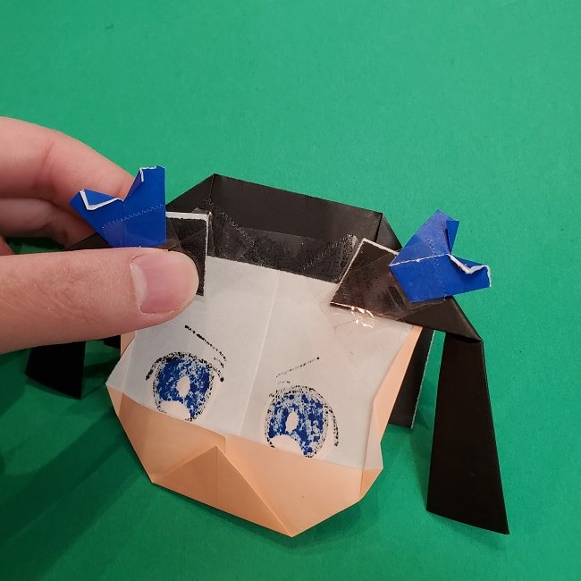 きめつのやいばの折り紙 あおい*折り方作り方 (45)