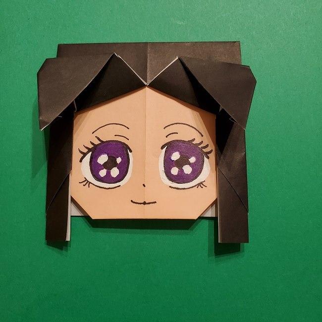 きめつのやいばの折り紙 胡蝶カナエの折り方作り方 (24)