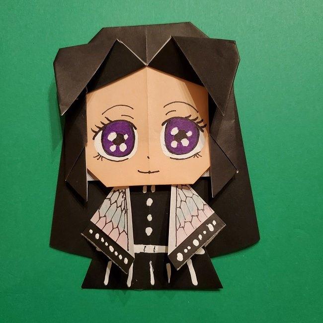 きめつのやいばの折り紙 胡蝶カナエの折り方作り方 (48)