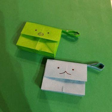 すみっこぐらしの折り紙 かばんの折り方・作り方★かわいいキャラクターの簡単バッグ