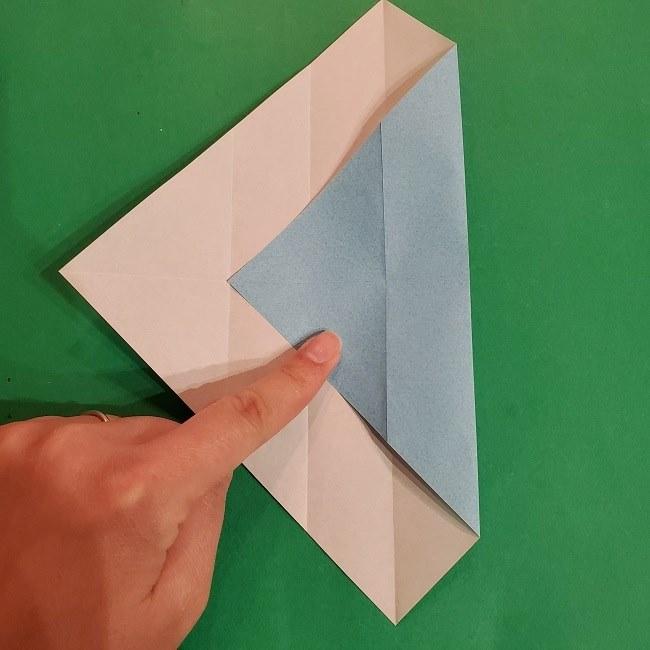 すみっこぐらしの折り紙 かばんの折り方・作り方 (7)