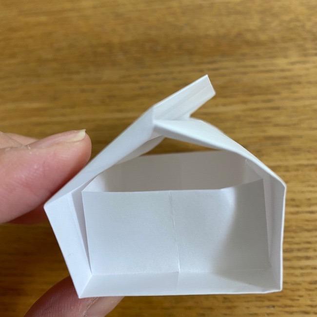 すみっこぐらしの折り紙 入れ物(小物入れ)*折り方 (34)