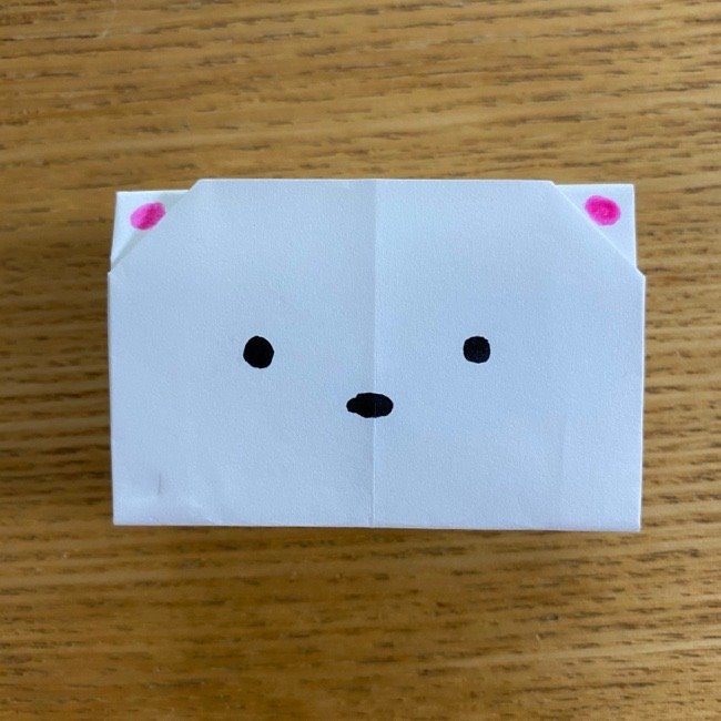 すみっこぐらしの折り紙 入れ物(小物入れ)*折り方 (36)