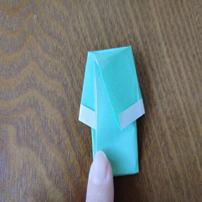 すみっこぐらし折り紙の折り方★簡単スリッパ (10)