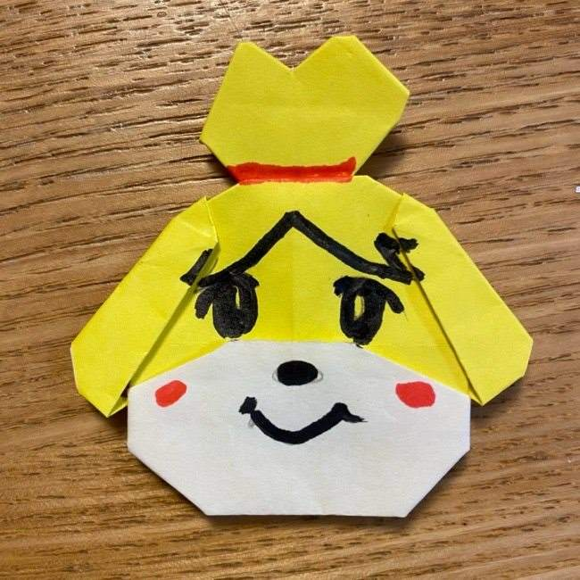 どうぶつの森『しずえ』折り紙の簡単な折り方★あつ森キャラクターの作り方