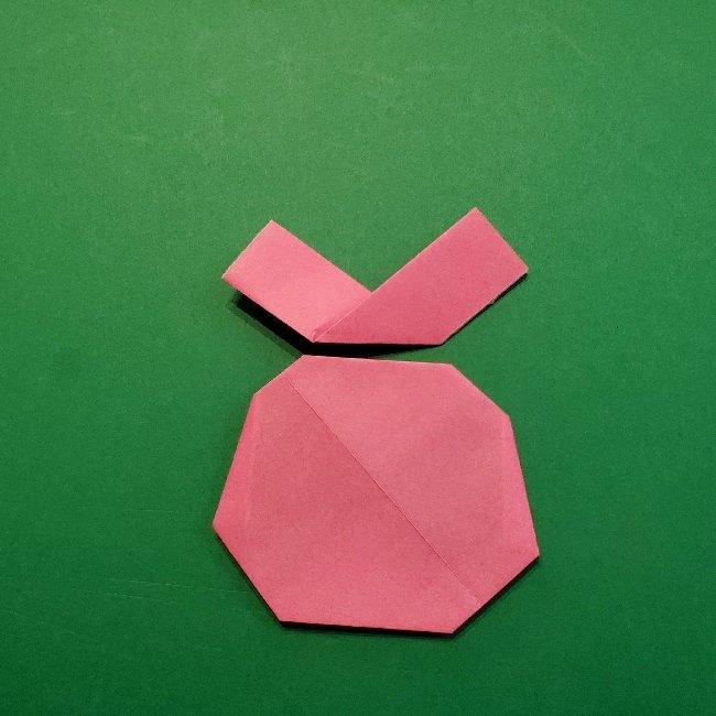 どうぶつの森の折り方「ももこ」の折り紙 (15)