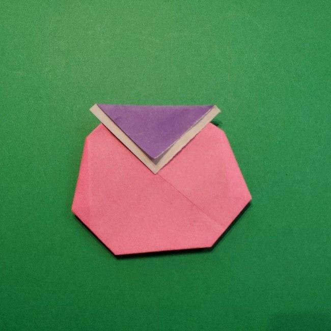 どうぶつの森の折り方「ももこ」の折り紙 (19)